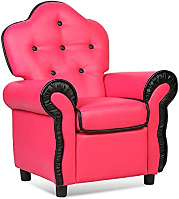 Lovely Amazon.com: Costzon Contemporary Kids Recliner, PU Leather Lounge Furniture  For Living Room Girls Bedroom, Children Sofa Chair (Pink): Kitchen U0026 Dining