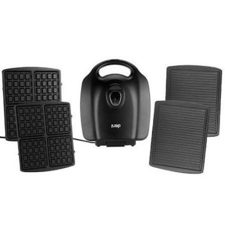 Deni Grill Griddle - ETL Listed, Durable, Efficient., Panini Sandwich Maker and Waffle Maker Combo