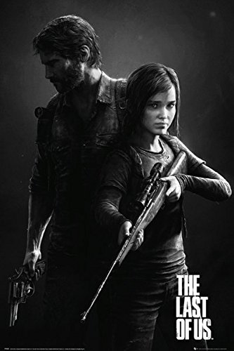 The last of us gaming poster print black white portrait