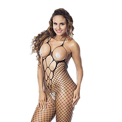 - CUCAMM Lingerie for Women, Mother's Day Beautiful and Practical Gift Memorial Day Crotch Body Stocking Bodysuit Sexy Women Fishnet Sheer Open Lingerie Black