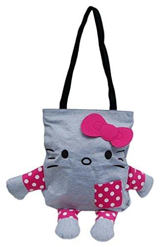 Hello Kitty Jersey Tote Großer Plüsch Tasche