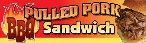 BBQ PULLED PORK SANDWICH BANNER 18'' x 8ft