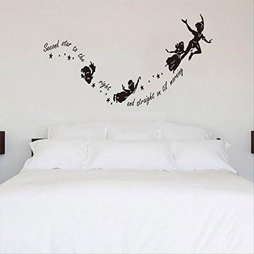 Peter Pan Etiqueta de la pared Tinkerbell Star Peter Pan Diy Pvc Pegatinas de pared Decal Kids Room Nursery Mural