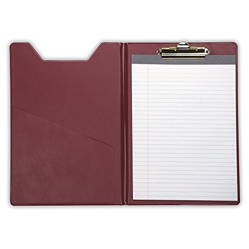 Samsill 71414 Value Padfolio, Heavy Vinyl, Brass Clip, Writing Pad, Inside Pocket, Burgundy by Samsill (Image #5)
