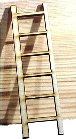 Escalera en miniatura para hadas, elfos y Hobbits.Hecha de madera.Sólo 10 cm. de alto.: Amazon.es: Hogar