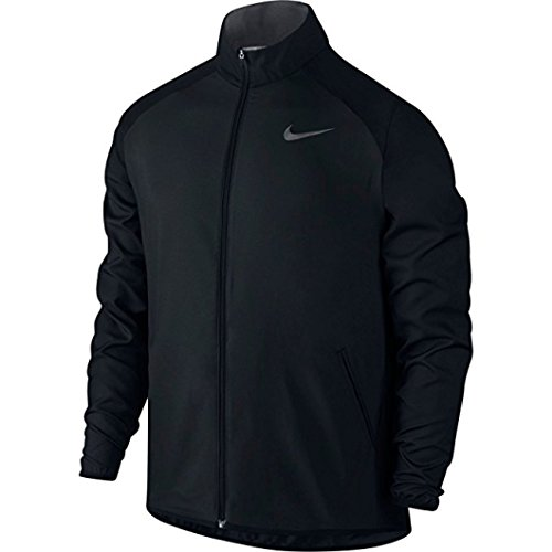 New Nike Men's Dry Team Training Jacket Black/Dk Grey/Dk Grey Large
