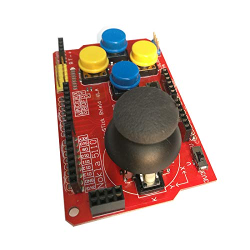 Gamepad Joystick Shield V1 Expansion Board Red for Arduino