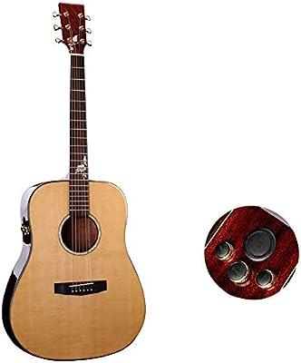 NUYI Guitarra de un Solo Tablero Spruce Veneer Mahogany Veneer ...
