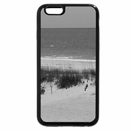 iPhone 6S Case, iPhone 6 Case (Black & White) - sailboat on the horizon
