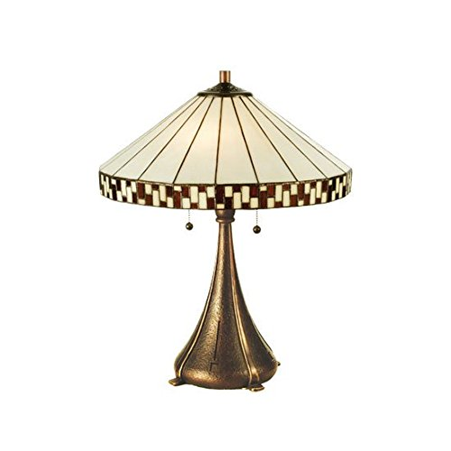 - Tiffany Prairie Mackintosh Asian Checkerboard Table Lamp