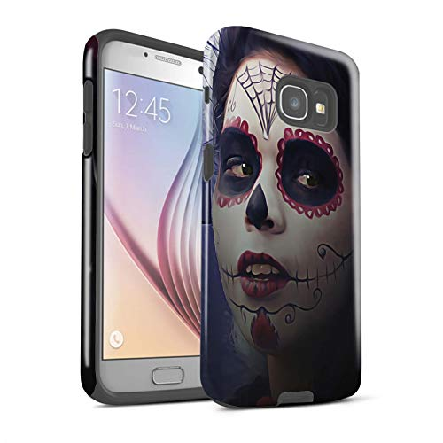 STUFF4 Gloss Tough Shock Proof Phone Case for Samsung Galaxy A5 (2017) / Halloween Makeup Design/Day of The Dead Festival Collection