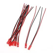 Sanweller(TM) 10 Pieces JST Male Connector 22AWG Wire 150mm 15cm for RC Radio Control Plane