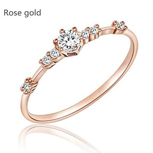 faa612ae6c757 Amazon.com: ZHQUN 14K Gold 7 Tiny Diamond Pieces of Exquisite Small ...