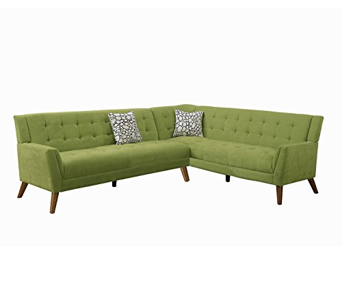Poundex F6886 Bobkona Geva Sectional Set, Willow