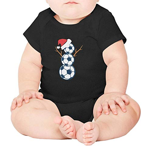 Artisfive Funny Christmas Shirts Soccer Snowman Unisex Baby Onesies Infant Bodysuit