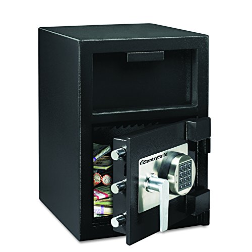 Sentry Safe DH109E Depository Safe, 1.09 ft3, 14w x 15-3/5d x 24h, Black (SENDH109E) ()