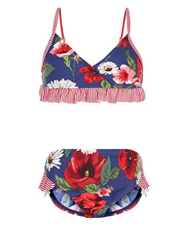 Monsoon Big Girls' Scarlett 3 pieces Sunsafe Set & Bag Size 12-13 Years Navy