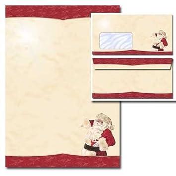 Briefpapier-Set BRIEF AN DEN WEIHNACHTSMANN DL 40-tlg ohne Fenster Set