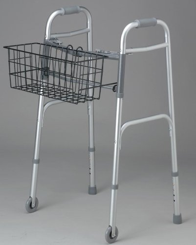 Walker Basket Medline - Medline MDS86615K Basket for 2-Button Walkers (Pack of 2)
