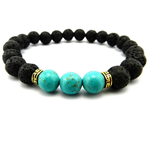 Lava Stone Aromatherapy Diffuser Bracelet - Turquoise