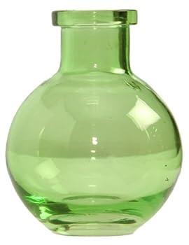 Ivy Lane Design 5-Pack Transparent Glass Vases, 3.5-Inch, Light Green