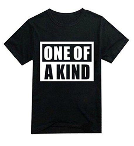 Bigbang ONE OF A KIND G-Dragon Taeyang Unisex T-shirt (Black, M)