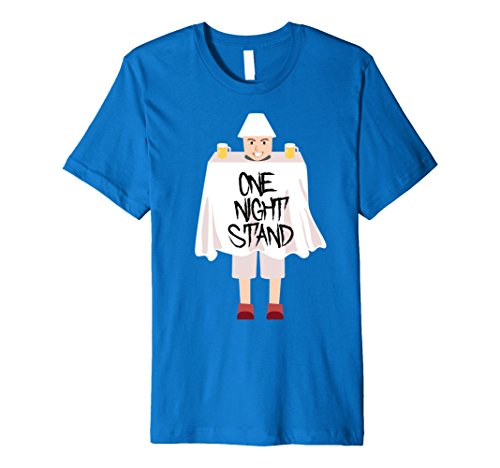 Mens One Night Stand Hilarious Weird Halloween Costume T-Shirt XL Royal Blue (1 Night Stand Costume)