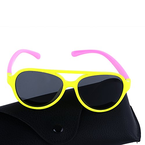 Rubber Flexible Baby and Children Polarized Sunglasses for Age 3-8 (Age 4 Card)