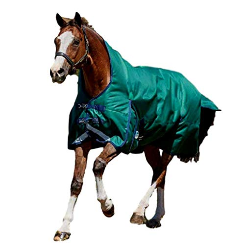 (Weatherbeeta Comfitec Plus Dynamic High Neck Lite, Hunter/Navy, 75