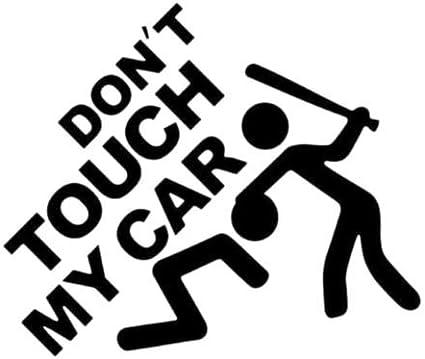 Aufkleber Vinyl Don T Touch My Car Auto Motorrad Roller Tuning Styling Schwarz Küche Haushalt