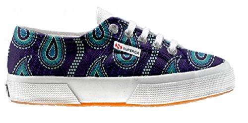 Superga Customized Chaussures Coutume Purple Paisley (produit artisanal)