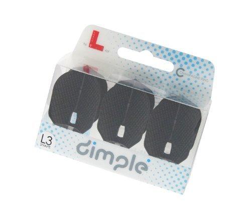 L-Style L3 Dimple PRO Shape Dart Flights Extra Durable - Black