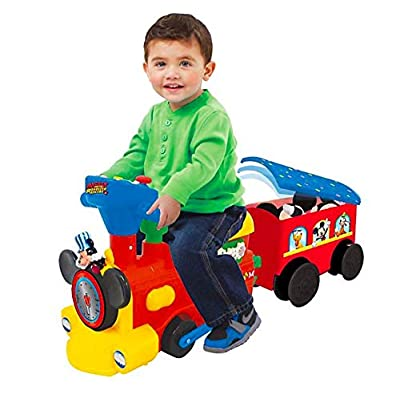 UPD Mickey 2-in1 Battery Powered Activity Choo Choo with Caboose: Toys & Games