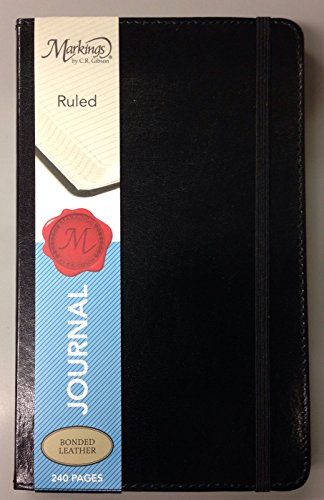 markings-by-cr-gibson-black-bonded-leather-journal-ruled-5-x-8-240-pages