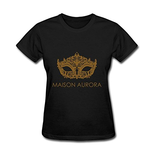 Heerinsy Women's Maison Aurora Logo With Eye Brows Color Short Sleeve T-Shirt M