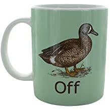 ZMvise Duck Off Fashion Quotes White Ceramic Mug Cup Perfect Christmas Halloween Gfit