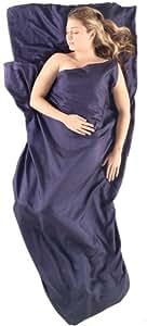 Sea to Summit Premium Blend Silk/Cotton Traveler Travel Liner with Pillowcase, 88 x 36 inch, Navy Blue