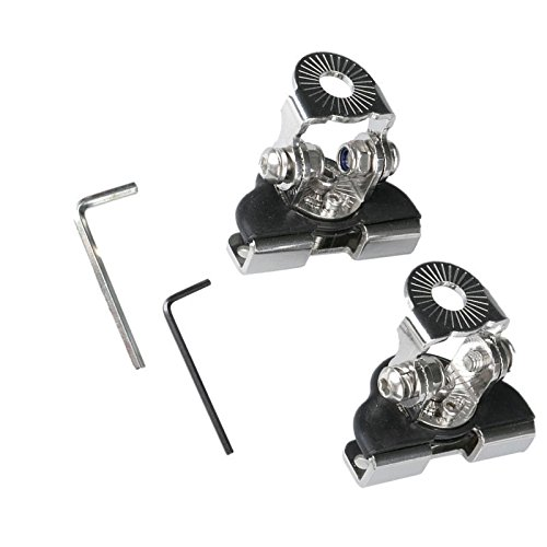 Triclicks 2pcs 304 Stainless Steel Pillar Hood Mount Bracket Clamp Holder for Offroad Light LED Work Lights Bar DRL by Triclicks (Image #1)