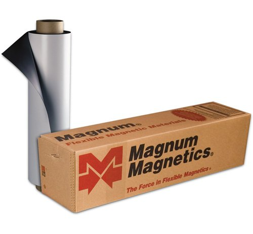 Magnum Magnetic Flexible White Vinyl 30 Mil - 12 Inches x 25 Feet
