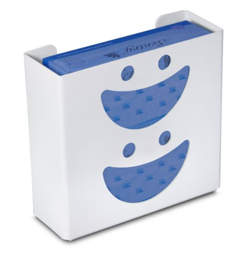 "TrippNT 50828 Priced Right Double Glove Box Holder with Smiley Face, 11 "" Width x 10"" Height x 4"" Depth (Glove Dispenser Box Holder)"