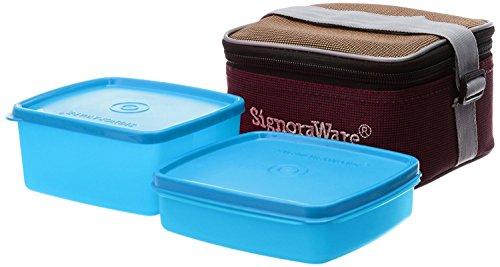 Signoraware Quick Carry Lunch Box with Bag, T Blue