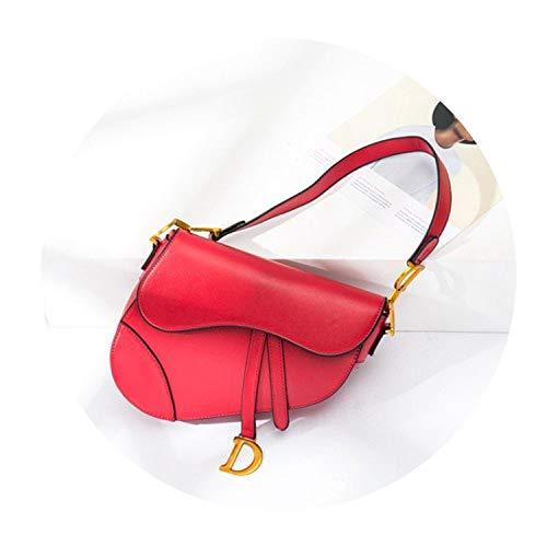 Original Quality Real Leather Mochila Luxury Handbags Women Designer Bags Famous Brand D Bolsa Feminina,red,22cm by 19cm by 4cm