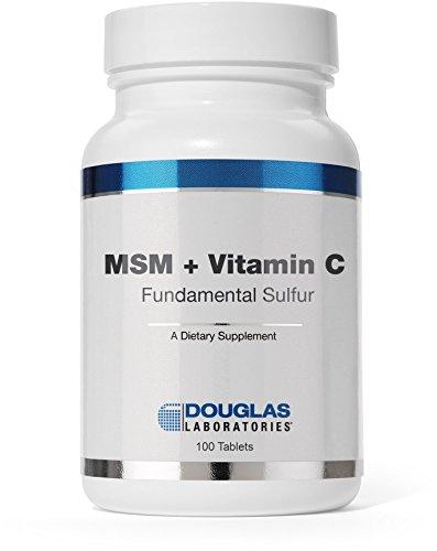 Douglas Laboratories® - MSM + vitamine C (soufre fondamentaux) - Supports blessure curative et capillaire santé * - 100 comprimés