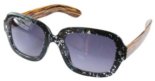 style Lunettes Wayfarer Braunes Gesprenkelt retro couleurs differentes monture de 80's soleil Holz EppwB