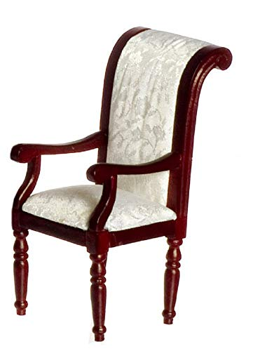 Melody Jane Dolls House Miniature Furniture Regency Mahogany Scroll Back Dining Carver Chair ()