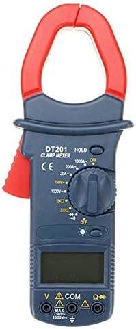 CHUNSHENN Clamp Multimeter, DT201 Handheld Digital Non Contact Multi Meters Clamp Meter 1000V Voltage Current Resistance Tester Tool
