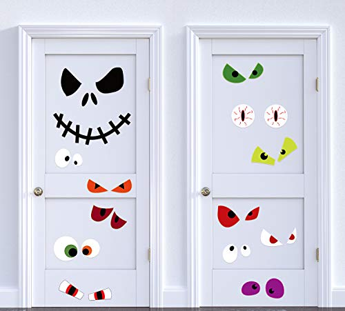 Halloween Door Cover Decorations Monster Eyes Jack - Wall Window Room Decor -