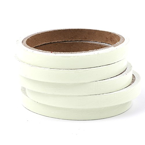 5 Rolls Luminous Tape Sticker 9.8 feet x 0.4 inch Removable Waterproof Safety Self-adhesive Strip Photoluminescent Glow in the Dark