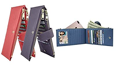 RFID Blocking Wallet for Women | Genuine Leather, Zipper Pocket, Bifold Feature | Holds and Protect Your Cards