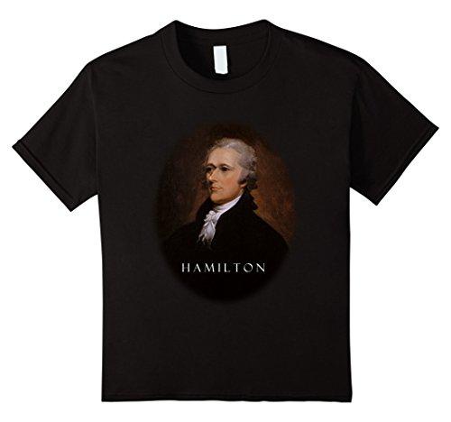 Kids Alexander Hamilton Portrait Oil Painting T Shirt 12 Black